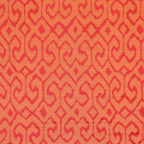 170 Ikat Red Orange